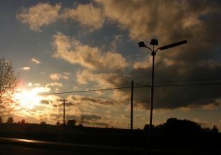 Sonnenuntergang, natur, licht
