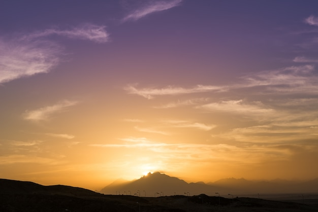Sonnenuntergang über sahara