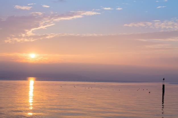 Sonnenuntergang von der italienischen landschaft