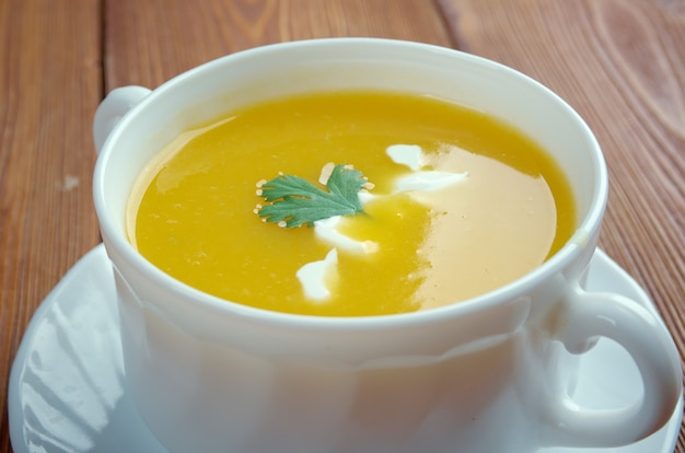 Sopa de calabaza - butternusskürbissuppe