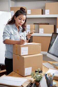 Sortieren von paketen im postlager