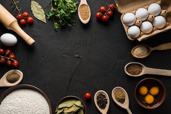 Sortierter Bestandteil für das Kochen