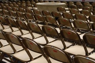 Sortiment an stühlen, seminar
