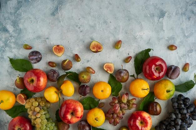 Sortiment gesunder bio-früchte
