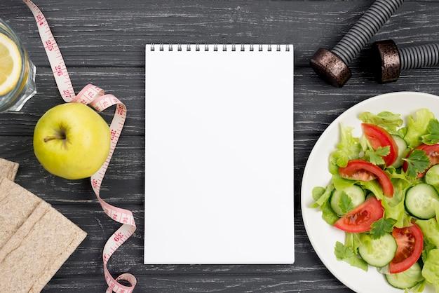 Sortiment mit gesunder ernährung