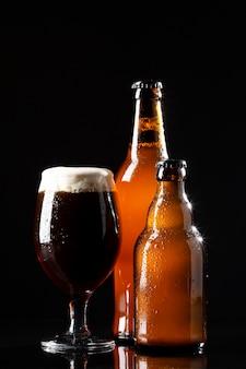 Sortiment mit leckerem amerikanischem bier