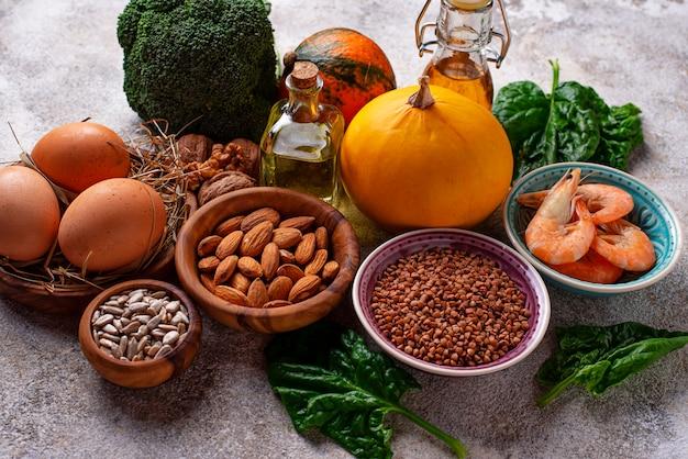 Sortiment nahrungsquellen von vitamin e