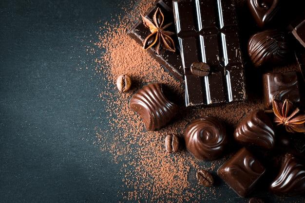 Sortiment von schokolade