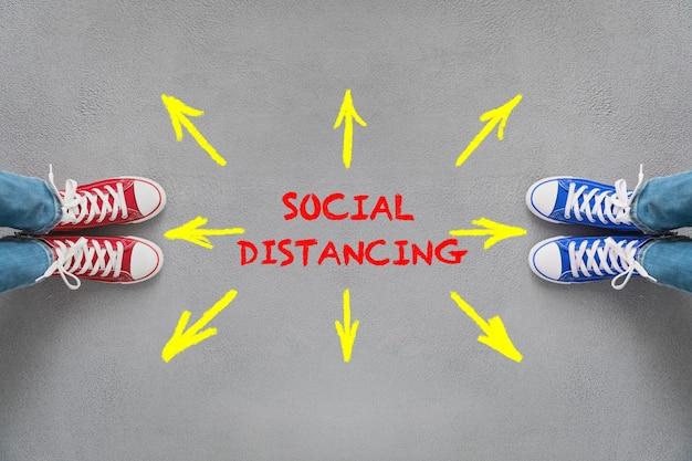 Soziale distanzierung während des coronavirus-pandemiekonzepts