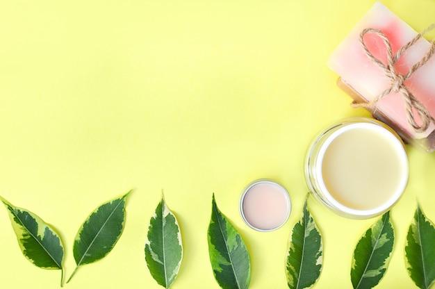 Spa beauty-produkte von oben
