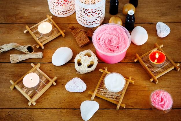 Spa-behandlung und aromatherapie-set