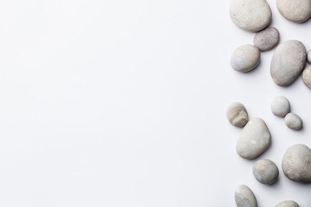 Spa-hintergrund mit grauen steinen