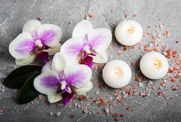 Spa-konzept mit orchideenblüten