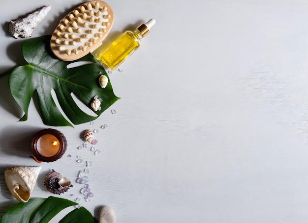 Spa-kosmetikprodukte und umweltfreundliche badzubehörteile