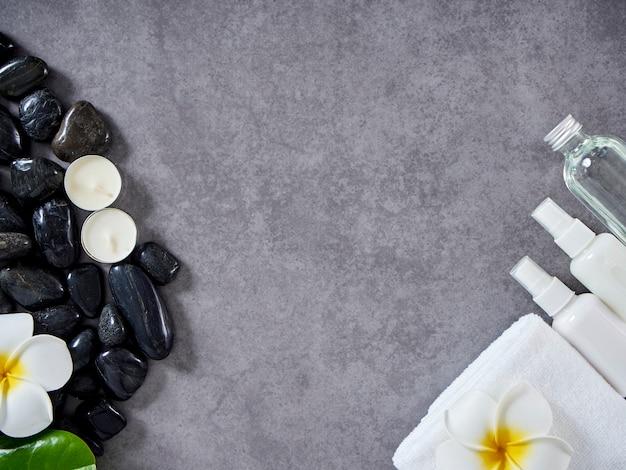 Spa-massage-konzept und hautpflege