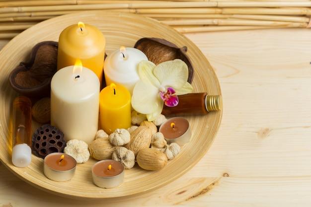 Spa-produkte mit orchideen