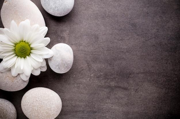 Spa-steine behandlungsszene, zen-ähnliche konzepte.