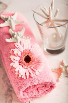 Spa stillleben mit handtuch