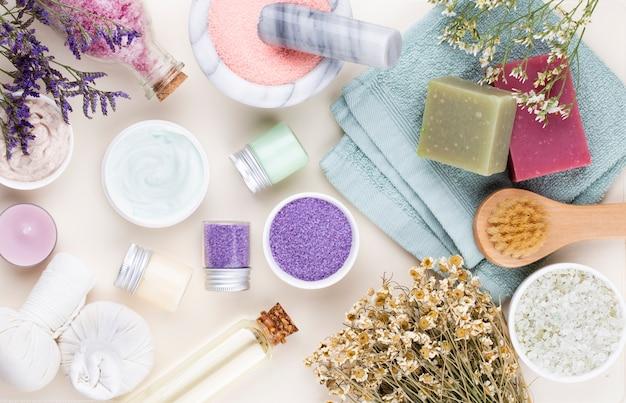Spa und bad hausgemachte kosmetik