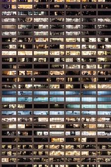 Spät arbeitender städtischer cencept