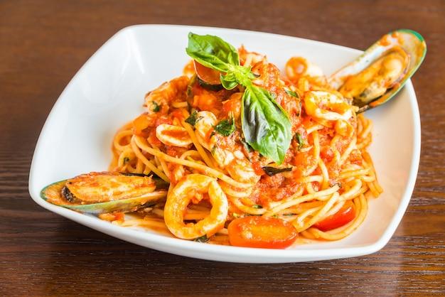 Spaghetti-meeresfrüchte