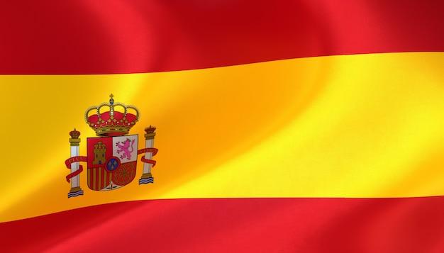 Spanien flagge rendern mit textur