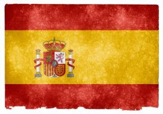Spanien grunge flag