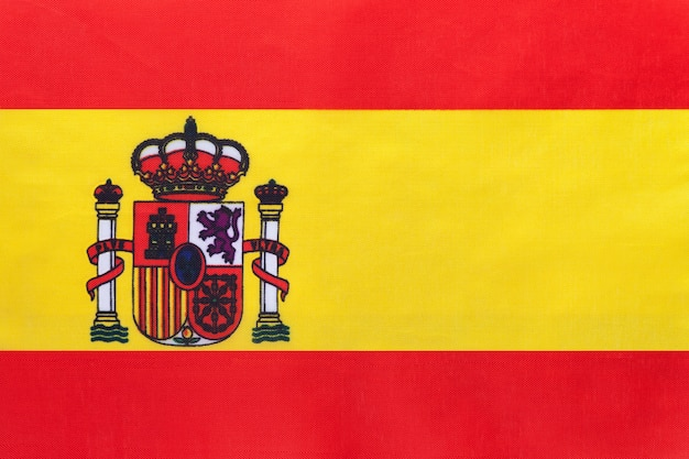 Spanien national stoff flagge