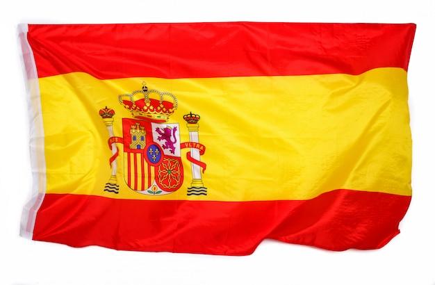 Spanische flagge auf weiß