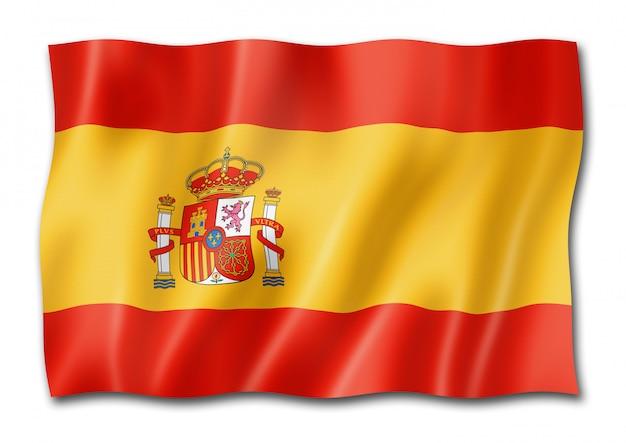 Spanische flagge, isoliert auf weiss