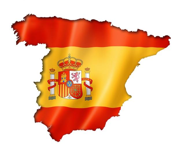Spanische flagge karte