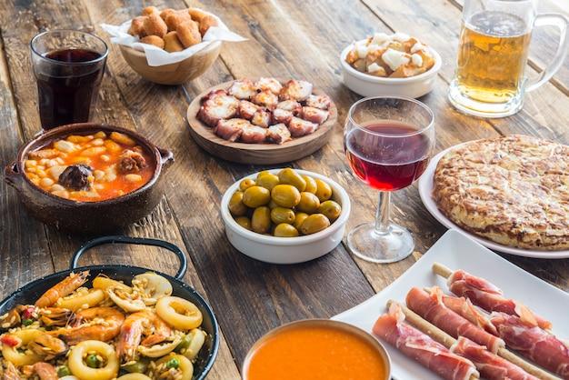 Spanische speiseteller