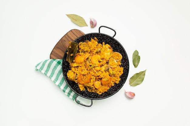 Spanisches paella-gericht