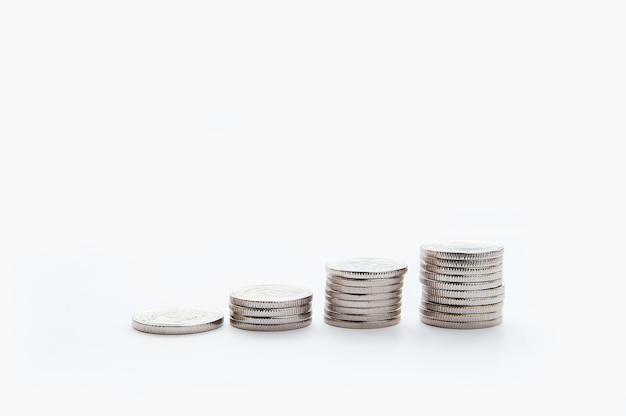 Sparen sie geld und account banking für das finanzkonzept. geschäftswachstum. konzept finanz- und rechnungswesen