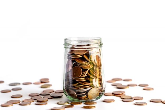 Sparen sie geld und bankkonten für die finanzen