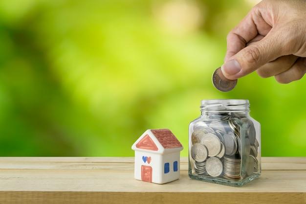 Sparpläne für unterkunft, finanzkonzept