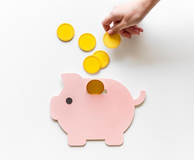 Sparschwein zukünftige geldersparnis-investition