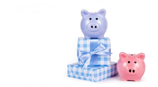 Sparschweine und geschenke