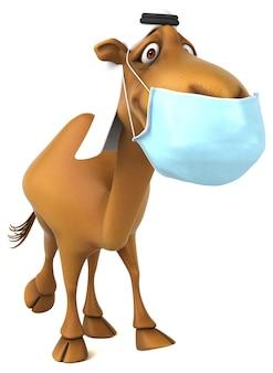 Spaß 3d-kamel mit einer maske
