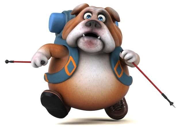 Spaß backpacker bulldogge