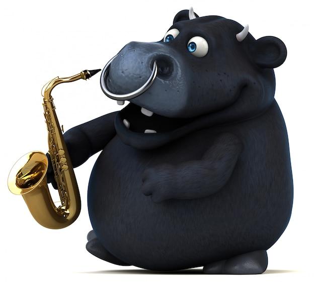 Spaß black bull animation