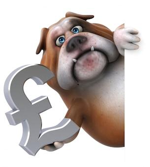 Spaß bulldogge 3d illustration