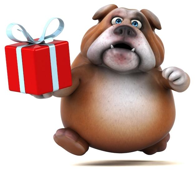 Spaß bulldogge - 3d-illustration