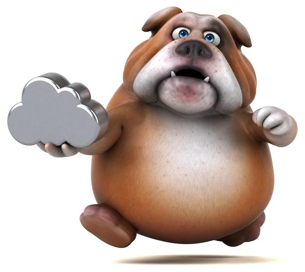 Spaß bulldogge illustration