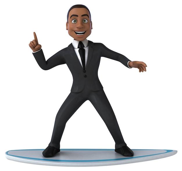 Spaß cartoon geschäftsmann surfen