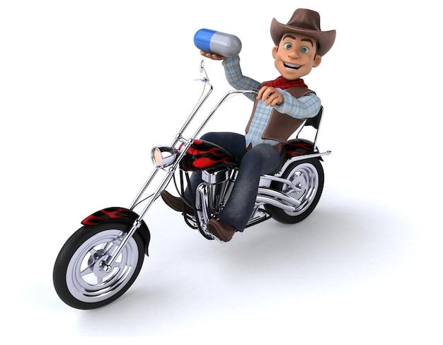 Spaß cowboy 3d illustration