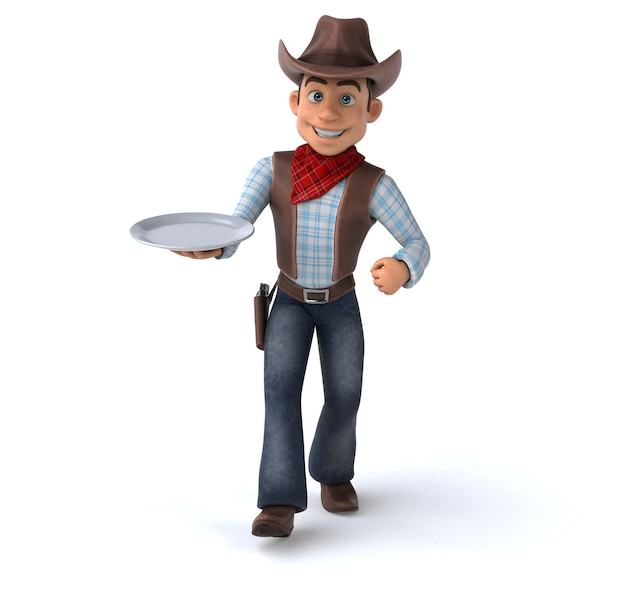 Spaß cowboy 3d illustration