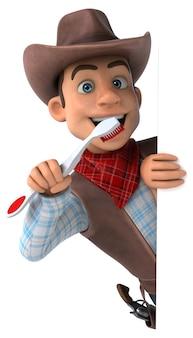 Spaß-cowboy - 3d-illustration