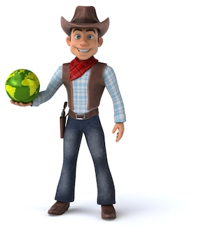 Spaß cowboy illustration