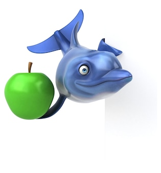 Spaß delphin 3d illustration